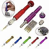 caxmtu 1x 5in 1Precision Torx Schraubendreher für Handy Uhr Repair Mixed Magnet Set Werkzeug Kit zufällige Farbe