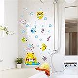 GOUZI Elefant Pinsel streichen die Kinder zu entfernen Sind, 50 * 70 cm Wall Sticker Abnehmbare Wall Sticker für Schlafzimmer Wohnzimmer Hintergrund Wand Bad Studie Friseur