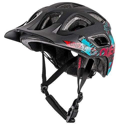 O'Neal Thunderball Attack All Mountain Bike Helm MTB Enduro Trail Fahrrad Fidlock M-XL 54-60cm, 0007-5, Farbe Schwarz Rot, Größe M/XL