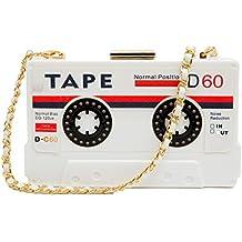 zarapack Tape Kassetten transparent Hard Case Geldbörse Clutch