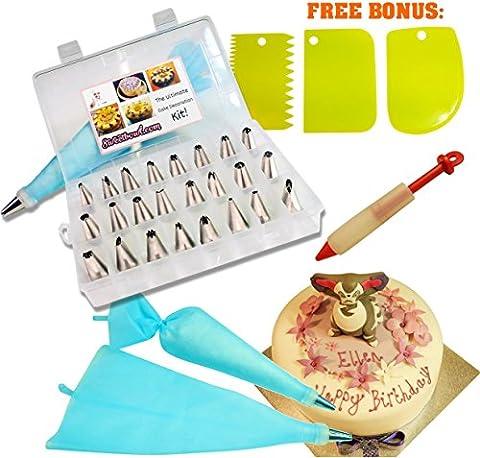 Premium kit de pointe de décoration de gâteaux pour glaçage