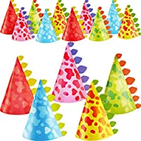 20 Pieces Dinosaur Party Hats Cone Dinosaur Birthday Party Hats for Kids Birthday Party Supplies, 5 Styles