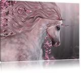 wunderbares Einhorn, Format: 100x70 auf Leinwand, XXL riesige Bilder fertig gerahmt mit Keilrahmen, Kunstdruck auf Wandbild mit Rahmen, günstiger als Gemälde oder Ölbild, kein Poster oder Plakat