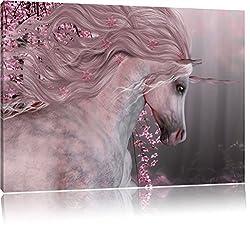 wunderbares Einhorn, Format: 120x80 auf Leinwand, XXL riesige Bilder fertig gerahmt mit Keilrahmen, Kunstdruck auf Wandbild mit Rahmen, günstiger als Gemälde oder Ölbild, kein Poster oder Plakat