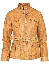 neue Fotos Preis vergleichen heiß-verkaufendes echtes Suchergebnis auf Amazon.de für: Lederjacke mit Gürtel ...