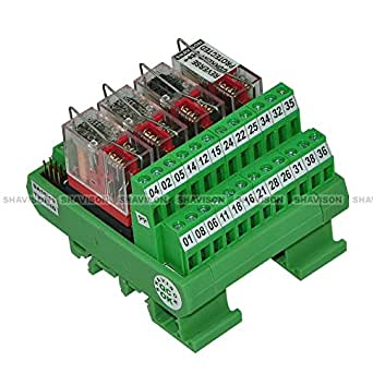 Shavison Relay Module AS393-24V-S-OE, 2C/O, 4 Channel, 24VDC Coil, OEN Relay, Reverse Blocking Diode, Socket Mounted Relay, Contact Rating : 28VDC/230VAC, 5A