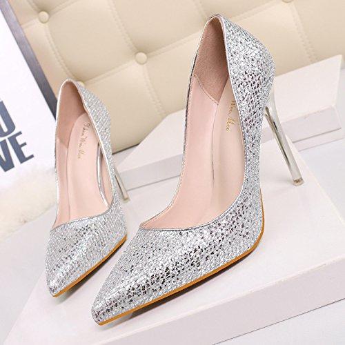 Chaussures Büse argentées femme Q6GVYT