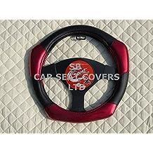 R – apto para Citroen C4 Grand Picasso coche, Funda para volante, de fibra