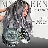 Upxiang Haarfärbemittel ! Unisex DIY Modeling Wax Mud Dye, Non-toxic temporäre Disposable Cream Stereotypes Hair Dye Wax, Fashion Großmutter Aschen Haar Farbstoff (Grau)
