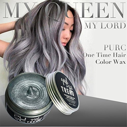 Upxiang Haarfärbemittel ! Unisex DIY Modeling Wax Mud Dye, Non-toxic temporäre Disposable Cream Stereotypes Hair Dye Wax, Fashion...