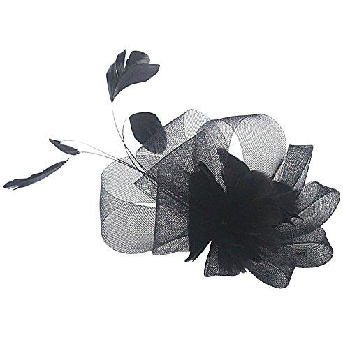Fascinator Haarclip Hochzeit Kopfschmuck (Schwarz) (Niedliche Halloween Outfits Für Frauen)
