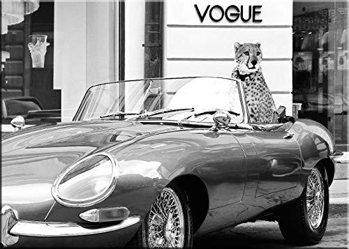 artissimo, Kunst-Edition, hochwertiges Leinwand-Bild 70x50 cm, AG4545, Lauren: En Vogue, modernes Wand-Bild, Foto schwarz weiß leinwand Vintage Retro Vintage Vogue-fotos