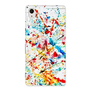 Special Paint Scribble Multicolor Back Case Cover for Xperia M4 Aqua