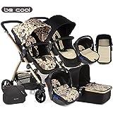 Be Cool  - Coche de paseo trío  slide 3 top estampado negro/beige