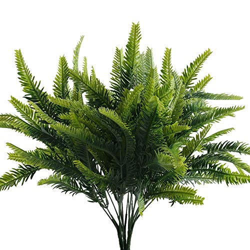 Nahuaa Simulación de Plantas 4pcs arbustos Artificiales Plantas de plástico arreglo de...