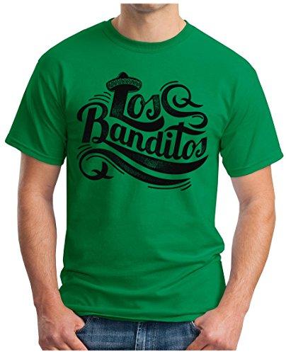 OM3 - LOS-BANDITOS - T-Shirt GEEK, S - 5XL Grün