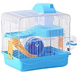 #7: Jainsons Playhouse / Cage For Hamster / Gerbil / Mice With Spare Floor, Exercise Wheel, Water Bottle, Hide House & Food Tray (Sky Blue)