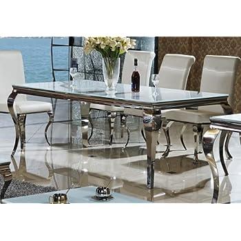 Esstisch 200 X 100 X 76 Lara Weiß Esszimmer Designer Luxus Tisch
