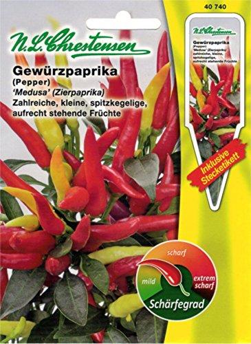 Chrestensen Gewürzpaprika / Zierpaprika 'Medusa' Saatgut Samen