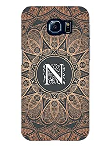 Samsung S6 Edge Covers - Initial N - Classy And Personalised - Designer Printed Hard Shell Case