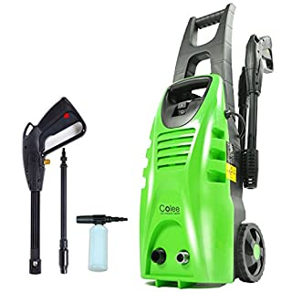 Colee XG-01G 1600W Compact Full-Control High Pressure Washer for Car, Home, Garden (Green)