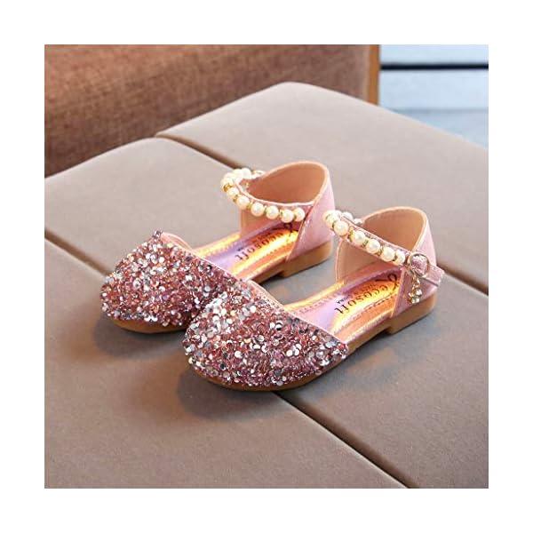 VECDY Zapatillas Bebe Niño, Sandalias Bebe Niñas Perlas, Lentejuelas Bling,Zapatos Princesa Sandalias para Bebé De… 5