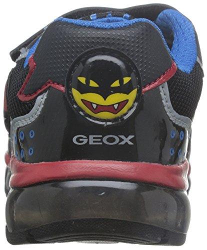 Geox J Android C, Baskets Basses Garçon Schwarz (BLACK/REDC0048)