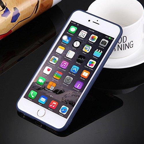 Phone case & Hülle Für iPhone 6 / iPhone 6s, Solid Color TPU Schutzhülle mit Rundloch ( Color : Dark blue ) Dark blue