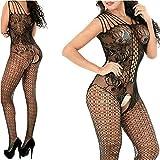 Calze a rete Babydoll Chemise Nightwear Babydoll Lingerie Sexy Hot Donna Erotico con Apertura A Rete Biancheria Intima Ouvert per le Donne Abbigliamento Mini Abito