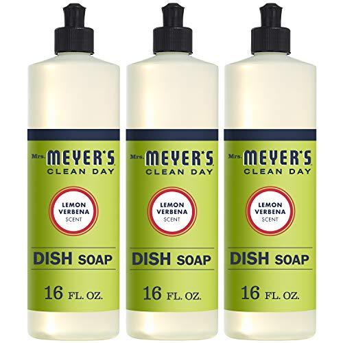 Mrs. Meyer's Clean Day Liquid Dish Soap - 16 oz - Lemon Verbena (Pack of 3). by Mrs. Meyers - Lemon Verbena Liquid