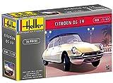 Heller 80162 - Modellino da costruire, Auto Citroen Ds 19, scala 1:43 [Importato da Francia]