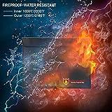 Enyu Feuerfeste wasserfeste Geldbörse Sichere Dokumententasche für Reisepass, Foto, Wertsachen für Enyu Feuerfeste wasserfeste Geldbörse Sichere Dokumententasche für Reisepass, Foto, Wertsachen
