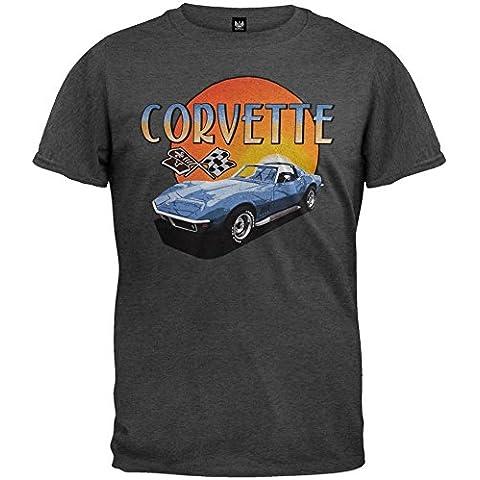 Old Glory - Chevrolet - para hombre suave Corvette T-camiseta de manga corta de puesta de sol