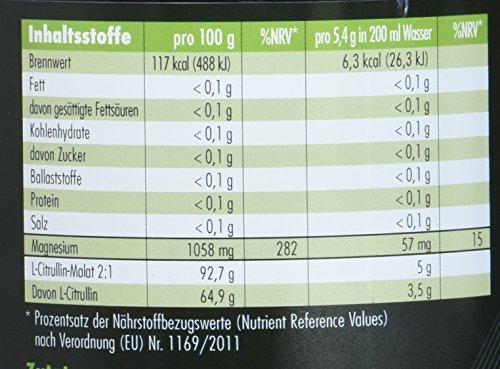 L-Citrullin Malat Pulver + Magnesium-Citrat – 539g – vegan – Fitness und Bodybuilding – Qualität made in Germany