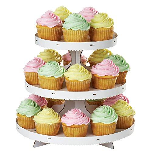 Wilton Soporte para Cupcakes de 3 Alturas, Blanco, Centimeters
