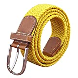 BOZEVON Cintura intrecciata elastica Per uomini e donne Colori multipli