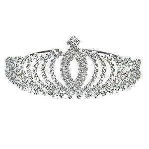Diadem Silber Brautbrautjungfern Leuchtender Strass Kronen Stirnband Tiara Hochzeit