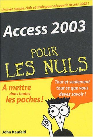 Access 2003 pour les nuls