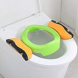 Orinal Portatil, Orinales para Niños, Orinal Portatil Plegable con 10 Bolsas de Plástico, Compacto y Portátil para Viajes (verde)