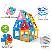 Jasonwell Bloques de Construcción Magnéticos 42 Piezas Bloques Magnéticos 3D Juguetes Construcción Juguetes magnéticos Juego Creativo y Educativo para Los Niños Más de 3 Años de Jiaxin