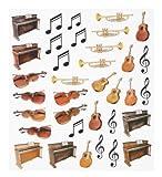 HOBBY fun autocollants motif instruments de musique