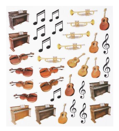 HOBBY-Design Sticker, Musikinstrumente