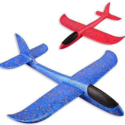 (Sanzhileg LED Form Flugzeug Handstart Werfen Segelflugzeug Flugzeuge Inertial Foam EPP Flugzeug Spielzeug Flugzeug Modell Outdoor Spielzeug Pädagogisches Geschenk)