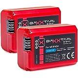 """2x Bundlestar BAXXTAR PRO-ENERGY batterie de qualité pour Sony NP-FW50 avec infochip - système de batterie intelligente - 100% compatible """"prochaine génération"""""""