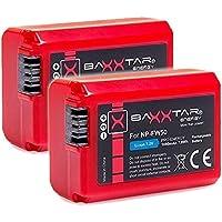"""2x BAXXTAR PRO-ENERGY Batería Calidad para Sony NP-FW50 (1080mAh real) con la información de la viruta - sistema de batería inteligente - 100% compatible """"última generación"""""""