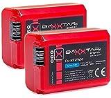 2x BAXXTAR PRO-ENERGY Batería Calidad para Sony NP-FW50 (1080mAh real) con la información de la...