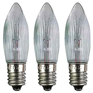 Ampoule Ondulé - socket E10 - 8V / 3W - Authentique allemand Erzgebirge Bougie Arches - Erzgebirge-Palast