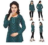 Unifiedclothes Women Fashion Casual Short Indian Kurti Tunic Kurta Top Shirt Dress 36C