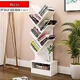 CLEAVE WAVES Bookshelf-Bücherregal-Bücherregal-CD-Display-Regal für Aufbewahrungsregal,White,7Shelf