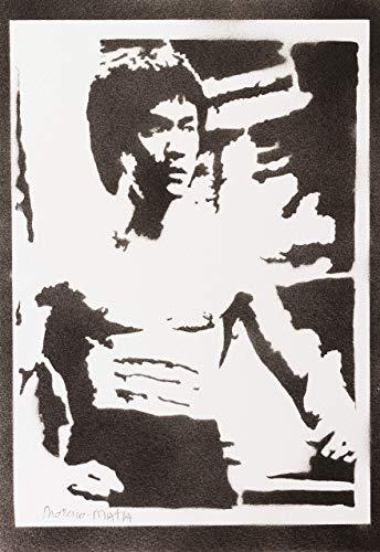 Bruce Lee Poster Plakat Handmade Graffiti Street Art - - Mat Mann Kostüm